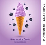 blueberry   flavored soft ice... | Shutterstock .eps vector #1316748929