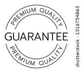 premium quality guarantee word... | Shutterstock .eps vector #1316754863