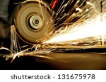 worker cutting metal with... | Shutterstock . vector #131675978