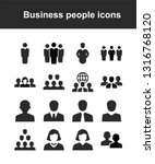 business people icons | Shutterstock .eps vector #1316768120