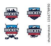hockey badge logo | Shutterstock .eps vector #1316778950