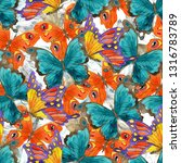 seamless pattern with colorful... | Shutterstock . vector #1316783789