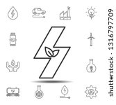 plant in the sign of lightning... | Shutterstock .eps vector #1316797709