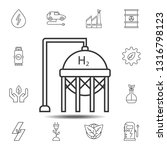 hydrogen tank icon. simple thin ...