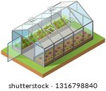 greenhouse isometric 3d icon.... | Shutterstock .eps vector #1316798840