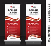 roll up banner design template  ... | Shutterstock .eps vector #1316807336