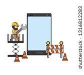 mobile app development | Shutterstock .eps vector #1316812283
