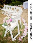 wedding ceremony chairs... | Shutterstock . vector #1316812916
