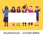 group standing together... | Shutterstock .eps vector #1316814866