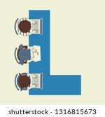 illustration of kids students... | Shutterstock .eps vector #1316815673