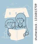 illustration of a kid boy... | Shutterstock .eps vector #1316815709