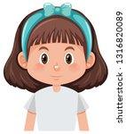 a brunette girl character... | Shutterstock .eps vector #1316820089