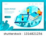 vector concept illustration   ... | Shutterstock .eps vector #1316821256