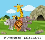 animals in the nature... | Shutterstock .eps vector #1316822783