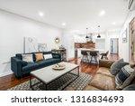 living dining room interior in... | Shutterstock . vector #1316834693