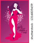 poster for ladies night party... | Shutterstock .eps vector #1316835659