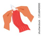 craft hands knitting hobby...   Shutterstock .eps vector #1316840000