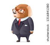 dog boss fashionable business...   Shutterstock . vector #1316841380