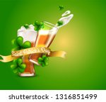 design concept with two beer... | Shutterstock .eps vector #1316851499