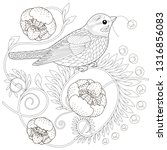 coloring pages. coloring book... | Shutterstock .eps vector #1316856083