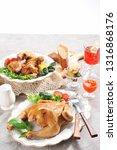 chicken on plate | Shutterstock . vector #1316868176