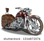 classic vintage motorcycle. | Shutterstock .eps vector #1316872076