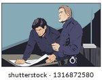 stock illustration. policeman... | Shutterstock .eps vector #1316872580