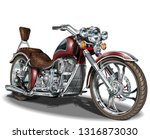 classic vintage motorcycle. | Shutterstock .eps vector #1316873030