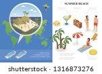 isometric summer holiday... | Shutterstock .eps vector #1316873276