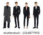 vector of young businessman and ...   Shutterstock .eps vector #1316877953