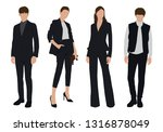 vector of young businessman and ...   Shutterstock .eps vector #1316878049
