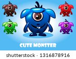 monster characters. collection...