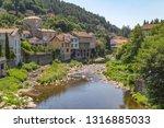 scenery around vals les bains ... | Shutterstock . vector #1316885033