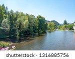 scenery around vals les bains ... | Shutterstock . vector #1316885756
