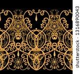 seamless pattern. golden...   Shutterstock . vector #1316890043
