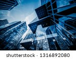 low angle view of skyscrapers ... | Shutterstock . vector #1316892080