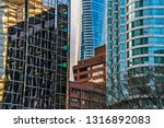 low angle view of skyscrapers ... | Shutterstock . vector #1316892083
