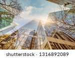 low angle view of skyscrapers ... | Shutterstock . vector #1316892089