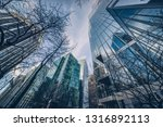 low angle view of skyscrapers ... | Shutterstock . vector #1316892113