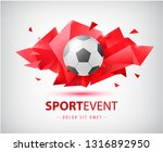 vector football abstract design ... | Shutterstock .eps vector #1316892950