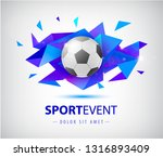 vector football abstract design ... | Shutterstock .eps vector #1316893409