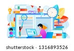 student watching lesson at... | Shutterstock .eps vector #1316893526