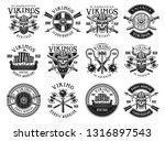 vikings and scandinavian... | Shutterstock .eps vector #1316897543