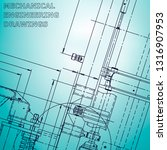 blueprint. corporate identity....   Shutterstock .eps vector #1316907953
