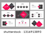 business presentation page... | Shutterstock .eps vector #1316913893
