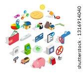 mark icons set. isometric set... | Shutterstock .eps vector #1316914040