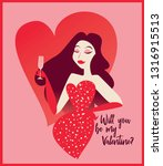 poster for valentine's day with ... | Shutterstock .eps vector #1316915513