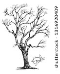 abstract tree.hand drawn tree... | Shutterstock .eps vector #1316920409