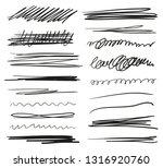 hand drawn underlines on white. ...   Shutterstock .eps vector #1316920760