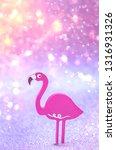 flamingo toy. pink flamingo toy ... | Shutterstock . vector #1316931326